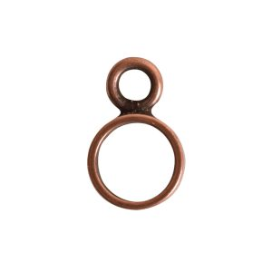 Open Frame Itsy Circle Single LoopAntique Copper
