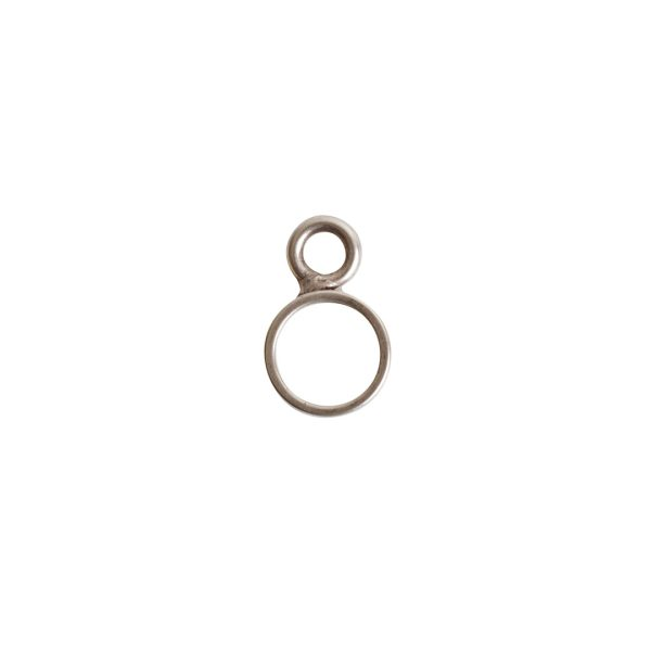Open Frame Itsy Circle Single LoopAntique Silver