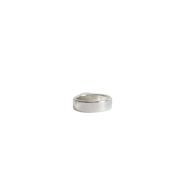 Open Frame Itsy Circle Single LoopSterling Silver Plate