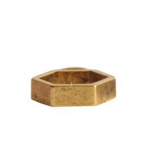 Open Frame Itsy Hexagon Single Loop<br>Antique Gold