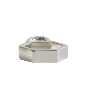 Open Frame Itsy Hexagon Single LoopSterling Silver Plate