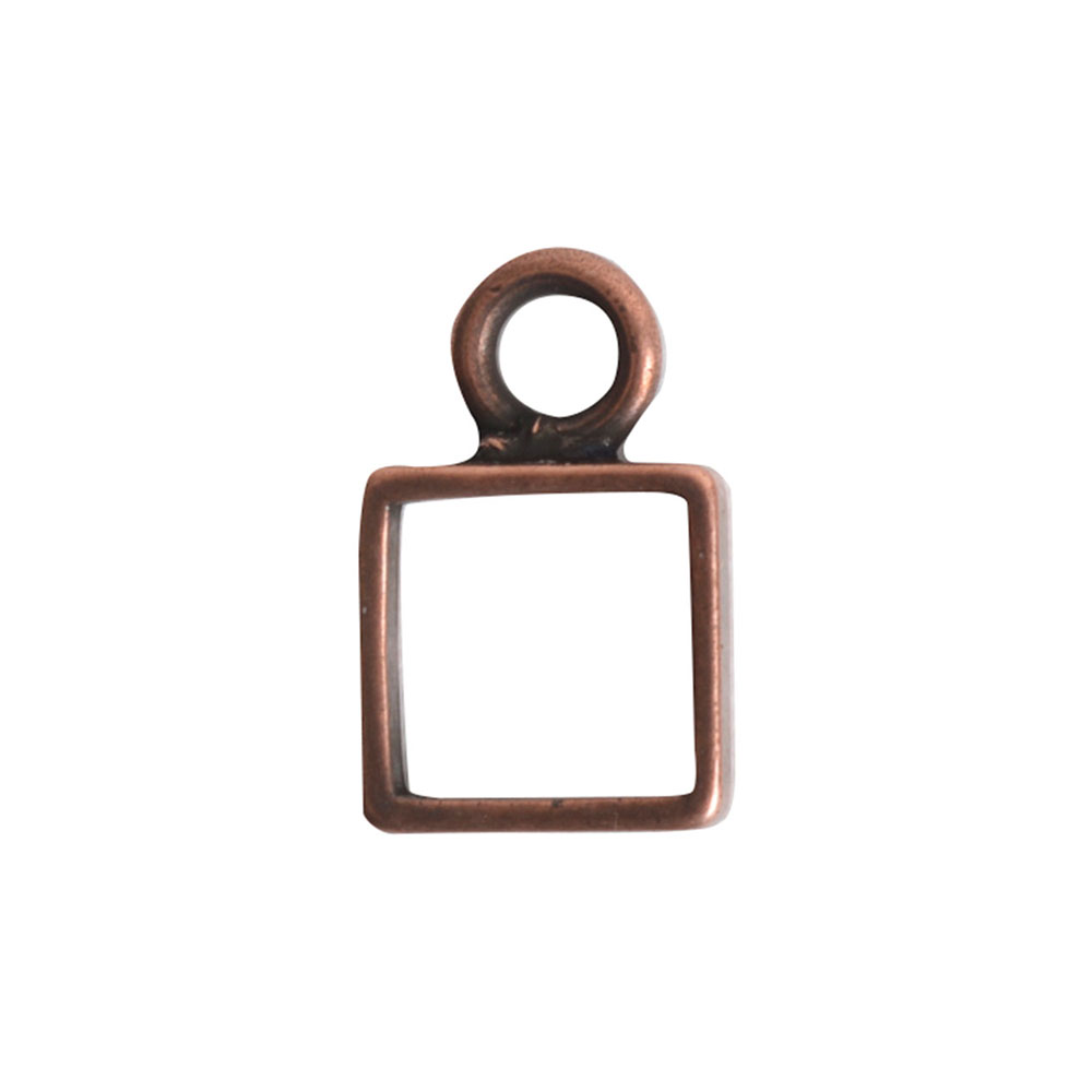 Open Frame Itsy Square Single LoopAntique Copper