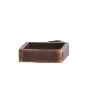 Open Frame Itsy Square Single Loop<br>Antique Copper