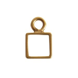 Open Frame Itsy Square Single LoopAntique Gold