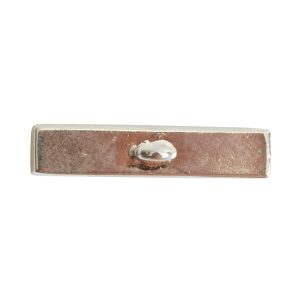Toggle Bar Channel RectangleSterling Silver Plate
