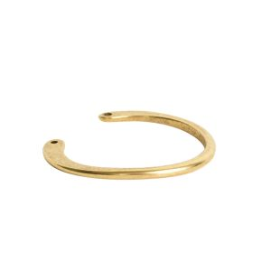 Wire Frame Open Circle Large Double HoleAnitque Gold