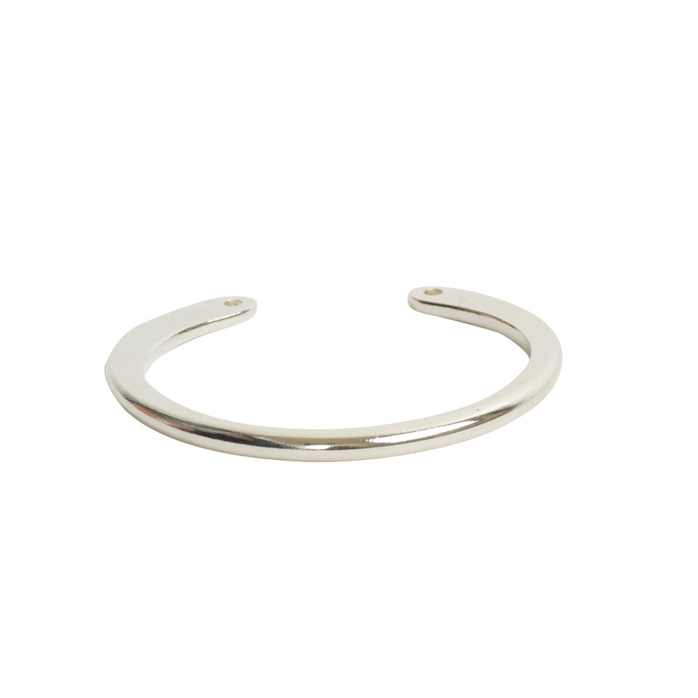 Wire Frame Open Circle Large Double HoleSterling Silver Plate