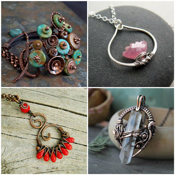 Wire Wrapped Jewelry Inspiration V Nunn Design