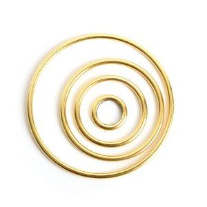 Buy & Try Findings Open Frame Hoop Combo PackAntique Gold
