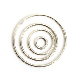 Buy & Try Findings Open Frame Hoop Combo PackAntique Silver