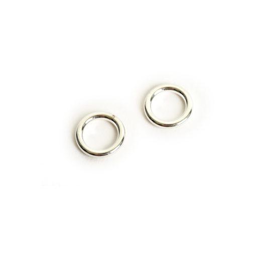 Buy & Try Findings Open Frame Hoop MiniSterling Silver Plate