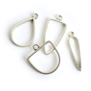 Buy & Try Findings Open Pendant Combo PackAntique Silver