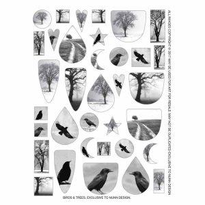 Buy & Try Technique Transfer Sheet Birds & Trees