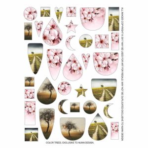 Buy & Try Technique Transfer Sheet Color Trees