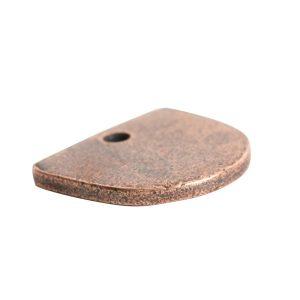Flat Tag Mini Half Oval<br>Antique Copper