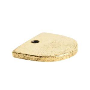 Flat Tag Mini Half Oval<br>Antique Gold