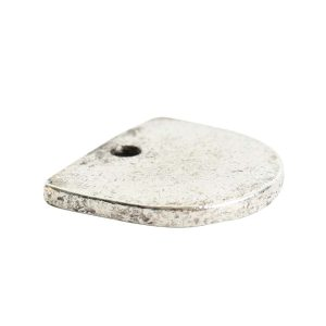 Flat Tag Mini Half OvalAntique Silver