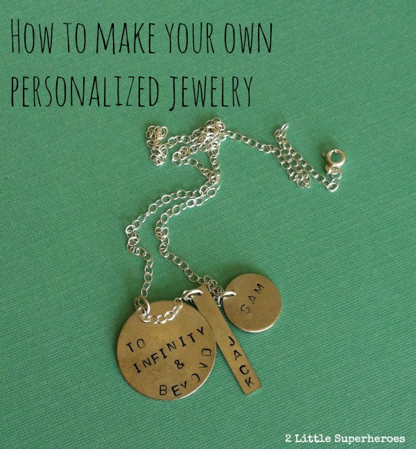 Make Your Own Necklaces And Jewelry At Home: Make Personalized Metal Stamped Jewelry For Mom!