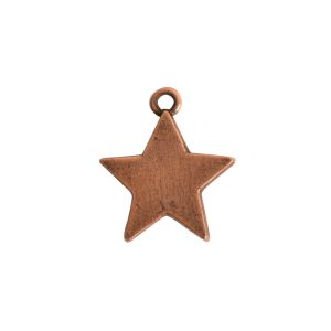 Mini Pendant Star Single LoopAntique Copper