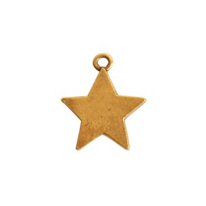 Mini Pendant Star Single LoopAntique Gold