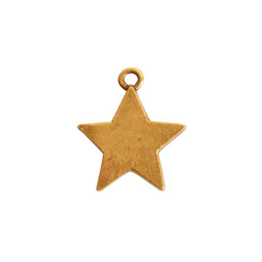 Mini Pendant Star Single LoopAntique Gold