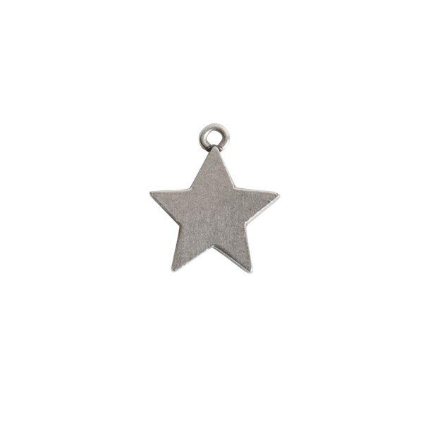 Mini Pendant Star Single LoopAntique Silver