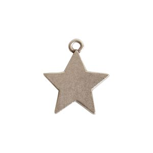 Mini Pendant Star Single LoopAntique Silver