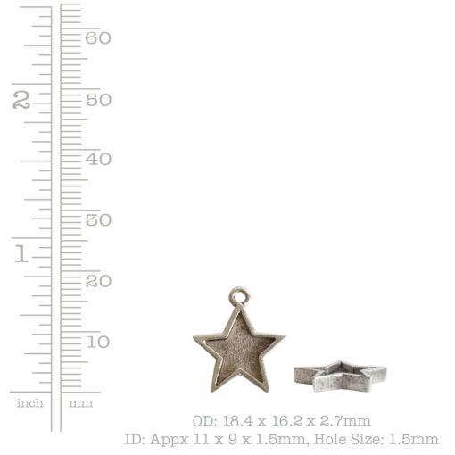 Mini Pendant Star Single LoopAntique Copper