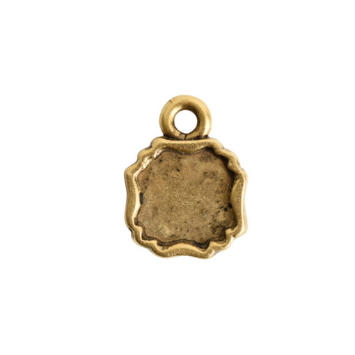 Ornate Flat Tag Mini SquareAntique Gold