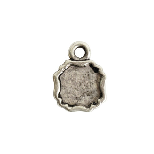Ornate Flat Tag Mini Square<br>Antique Silver 1
