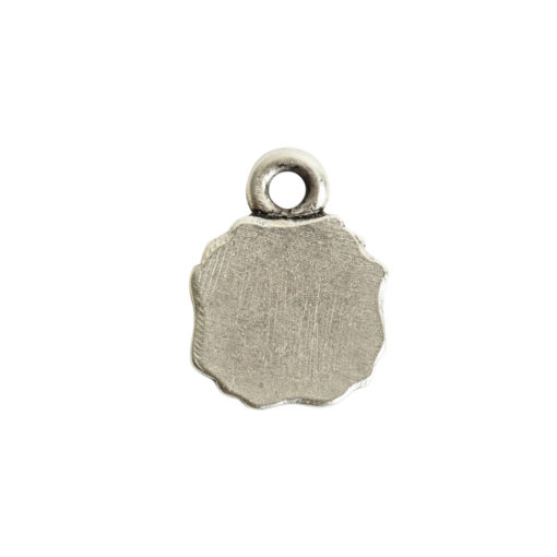 Ornate Flat Tag Mini SquareAntique Silver