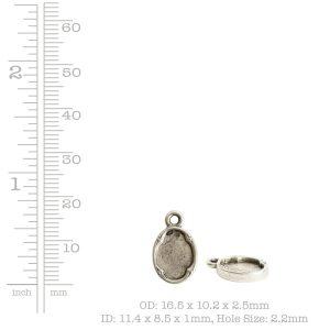 Ornate Flat Tag Mini Oval<br>Antique Gold