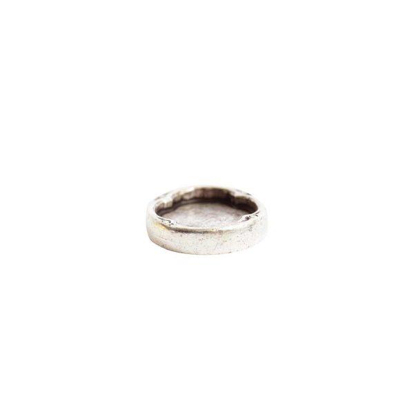 Ornate Flat Tag Mini OvalAntique Silver