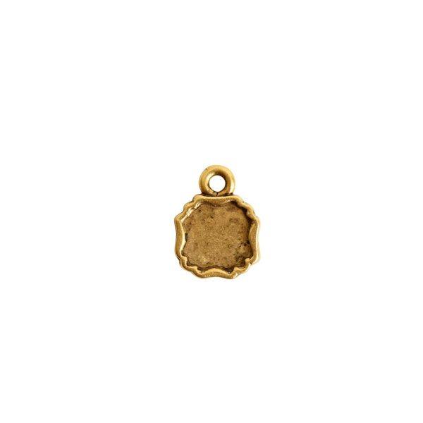 Ornate Flat Tag Mini SquareAntique Gold