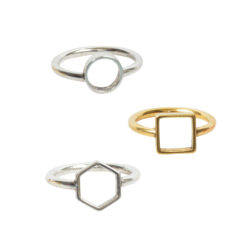Open Frame Rings
