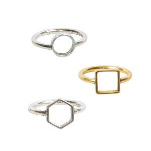 Open Frame Rings