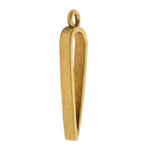 Open Pendant Inverted Drop Single LoopAntique Gold