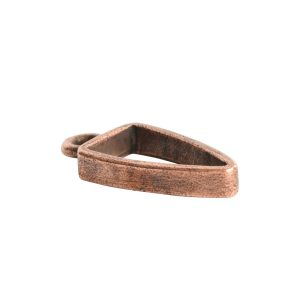 Open Pendant Small Arrowhead Single LoopAntique Copper