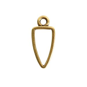 Open Pendant Small Arrowhead Single LoopAntique Gold