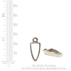 Open Pendant Small Arrowhead Single Loop<br>Antique Copper