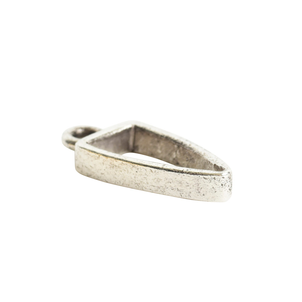 Open Pendant Small Arrowhead Single LoopAntique Silver