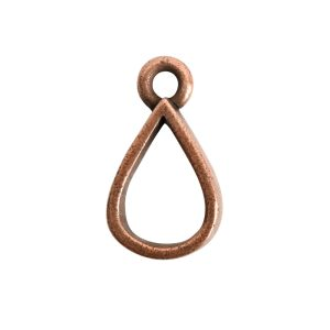 Open Pendant Small Drop Single LoopAntique Copper