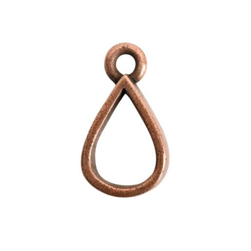 Open Pendant Small Drop Single Loop<br>Antique Copper 1
