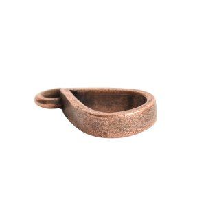 Open Pendant Small Drop Single LoopAntique Copper