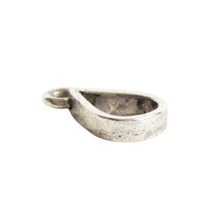 Open Pendant Small Drop Single Loop<br>Antique Silver