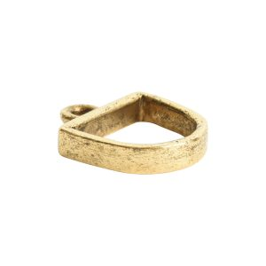 Open Pendant Small Half Oval Single LoopAntique Gold