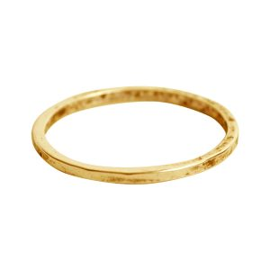 Ring Hammered Thin 7Antique Gold