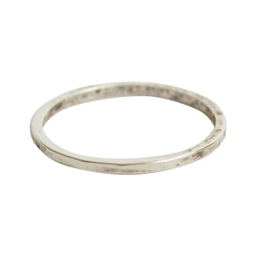 Ring Hammered Thin 8Antique Silver
