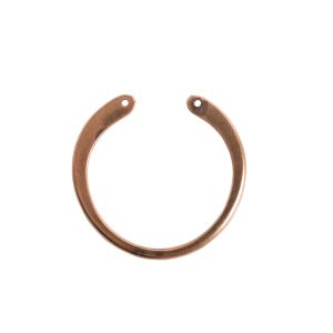 Wire Frame Open Circle Large Double HoleAntique Copper