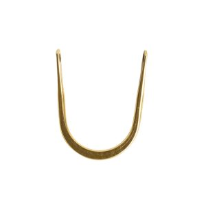 Wire Frame Open Horseshoe Short Double HoleAntique Gold
